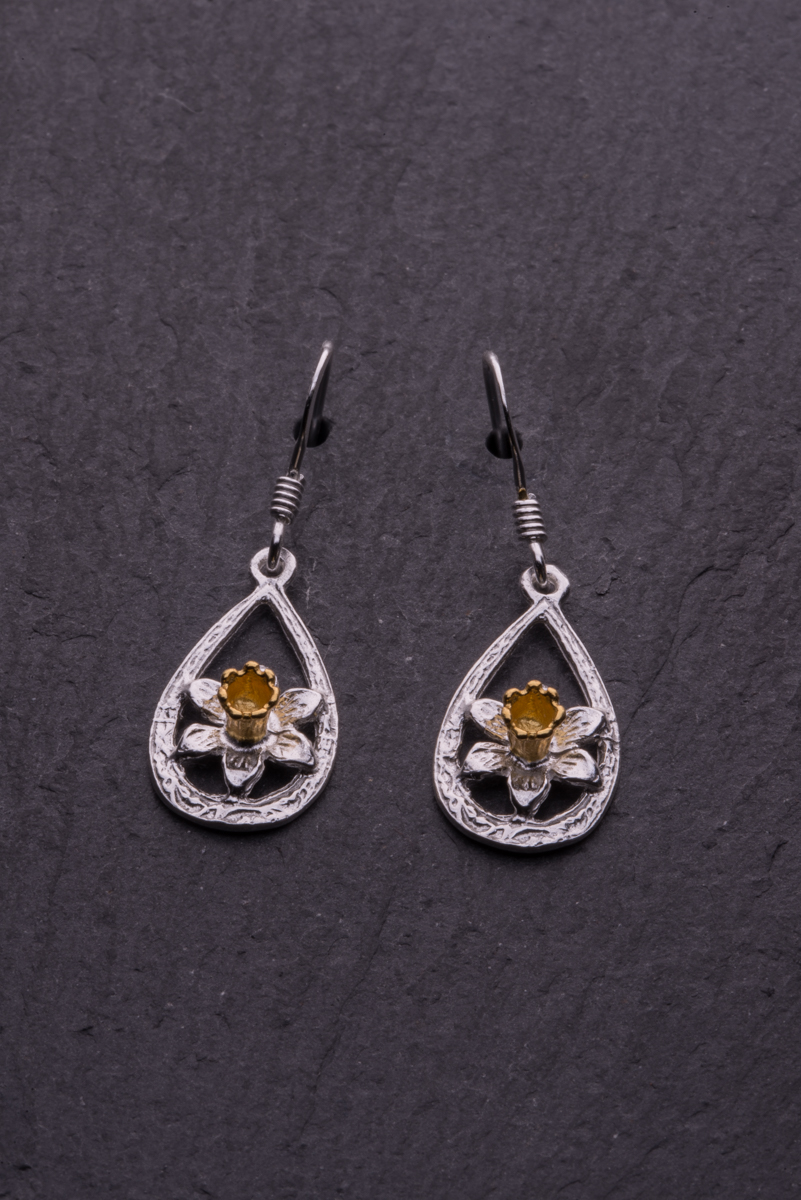 Daffodil Earring Celtic Amp Welsh Jewellery